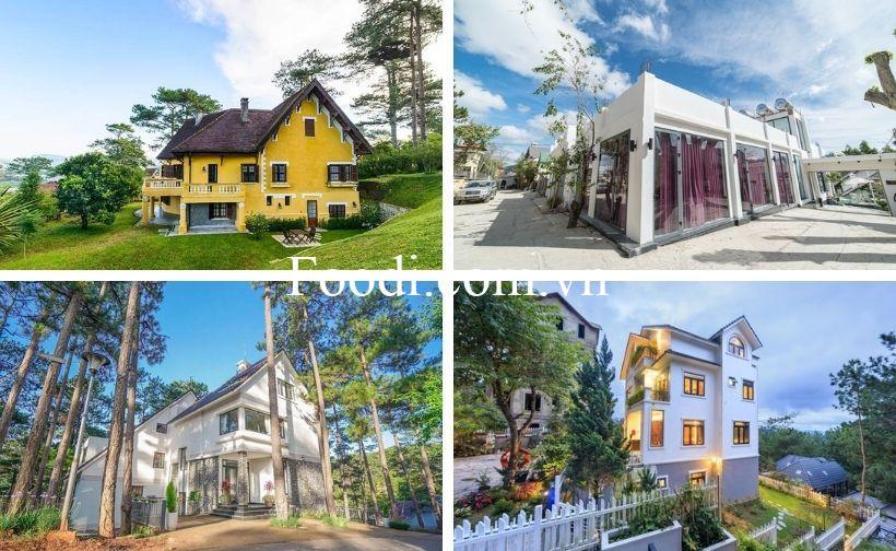 Top 20 Biệt thự villa Đà Lạt giá rẻ view đẹp kiểu Pháp Châu Âu cổ điển